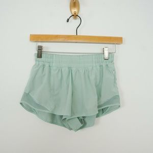 "Lululemon Hotty Hot Shorts II Mint Green 2.5"""